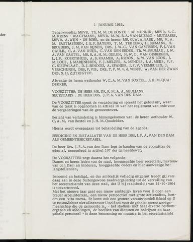 Breda - Notulen van de gemeenteraad 1965-01-01