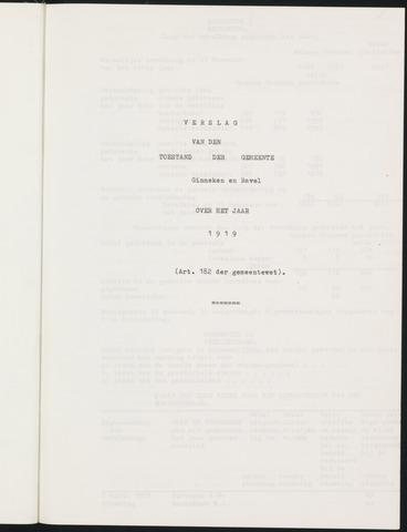 Ginneken en Bavel - Verslagen van de toestand van de gemeente 1919