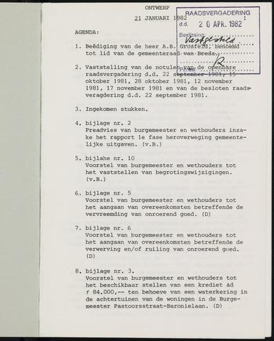 Breda - Notulen van de gemeenteraad 1982