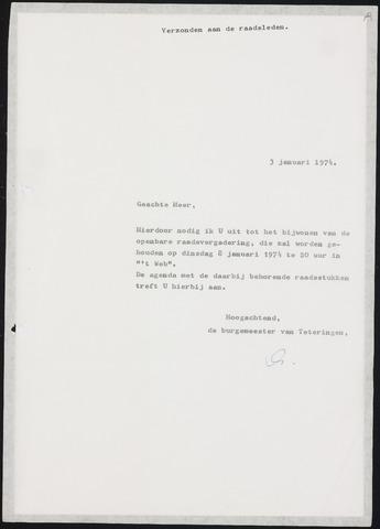 Teteringen - Notulen en bijlagen van de gemeenteraad 1974-01-08