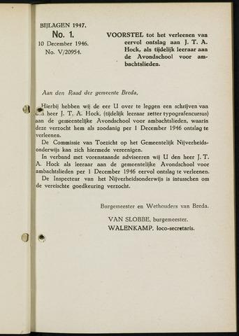 Breda - Bijlagen bij de notulen van de gemeenteraad 1947