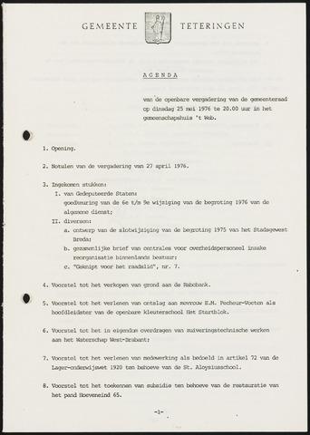 Teteringen - Notulen en bijlagen van de gemeenteraad 1976-05-25
