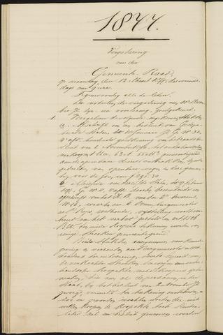 Teteringen - Notulen en bijlagen van de gemeenteraad 1877