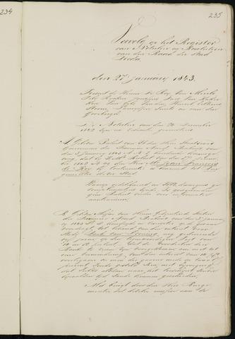 Breda - Notulen van de gemeenteraad 1843-01-01