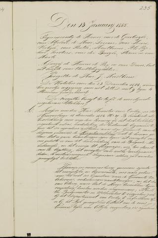 Breda - Notulen van de gemeenteraad 1855-01-01