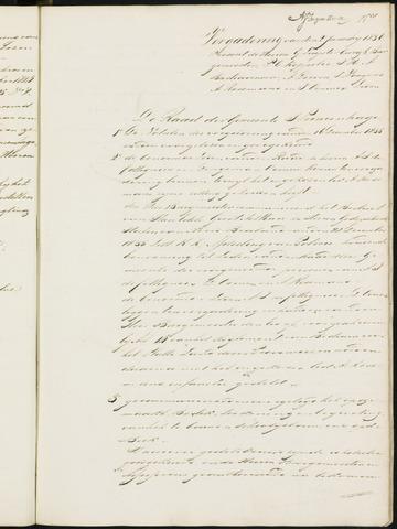 Princenhage - Notulen van de gemeenteraad 1836-01-01