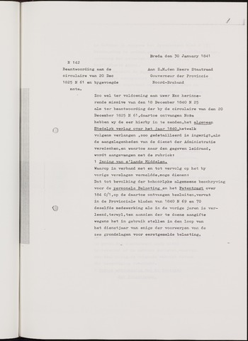 Breda - Verslagen van de toestand van de gemeente 1840-01-01