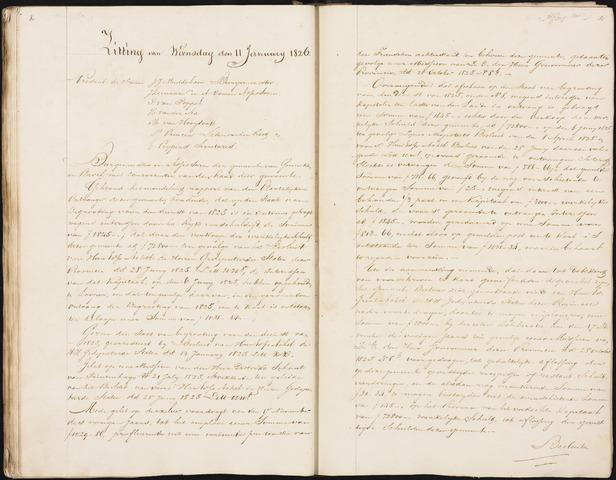Ginneken en Bavel - Notulen van de gemeenteraad 1826-01-01