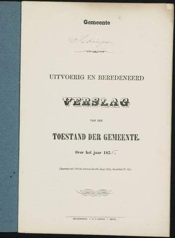 Teteringen - Verslagen van de toestand van de gemeente 1875