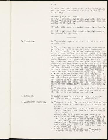 Prinsenbeek - Notulen van de gemeenteraad 1946