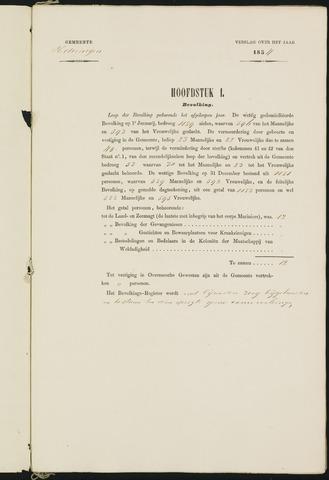 Teteringen - Verslagen van de toestand van de gemeente 1854