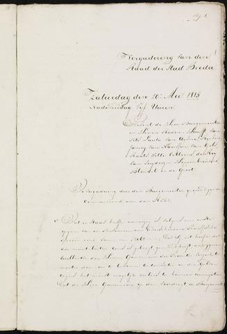 Breda - Notulen van de gemeenteraad 1815-01-01