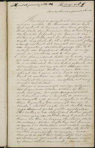 Breda - Bijlagen bij de notulen van de gemeenteraad 1874-01-01