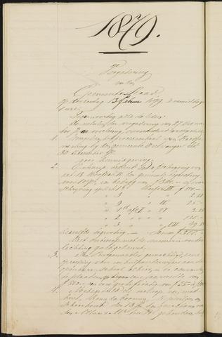 Teteringen - Notulen en bijlagen van de gemeenteraad 1879-01-01