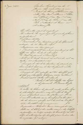 Princenhage - Notulen van de gemeenteraad 1899