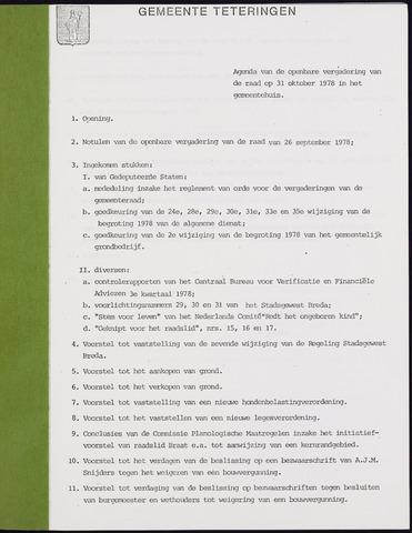 Teteringen - Notulen en bijlagen van de gemeenteraad 1978-10-31