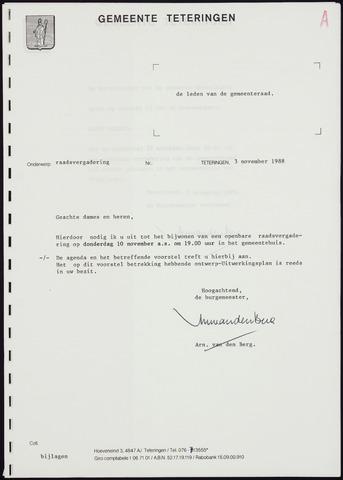 Teteringen - Notulen en bijlagen van de gemeenteraad 1988-11-10