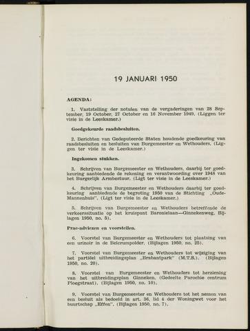 Breda - Notulen van de gemeenteraad 1950-01-01