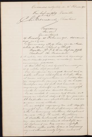 Teteringen - Notulen en bijlagen van de gemeenteraad 1908