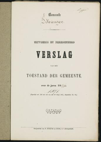 Teteringen - Verslagen van de toestand van de gemeente 1871