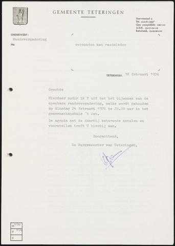 Teteringen - Notulen en bijlagen van de gemeenteraad 1976-02-24