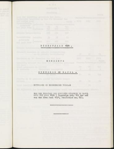 Ginneken en Bavel - Verslagen van de toestand van de gemeente 1894