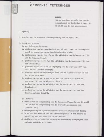 Teteringen - Notulen en bijlagen van de gemeenteraad 1981-06-04