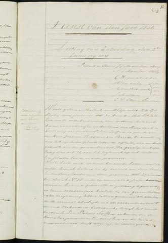 Ginneken en Bavel - Notulen van de gemeenteraad 1836-01-01