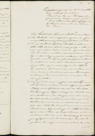 Princenhage - Notulen van de gemeenteraad 1844