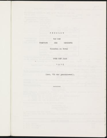 Ginneken en Bavel - Verslagen van de toestand van de gemeente 1918-01-01