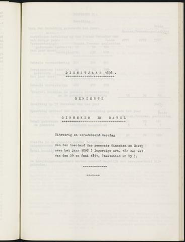 Ginneken en Bavel - Verslagen van de toestand van de gemeente 1898