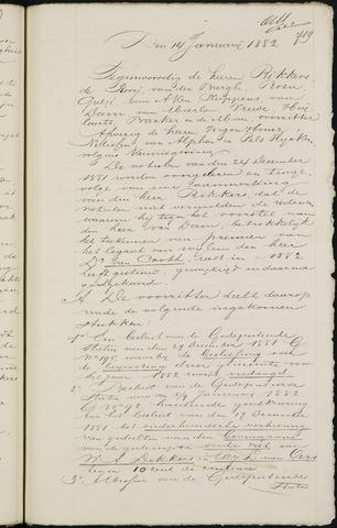 Breda - Notulen van de gemeenteraad 1882-01-01