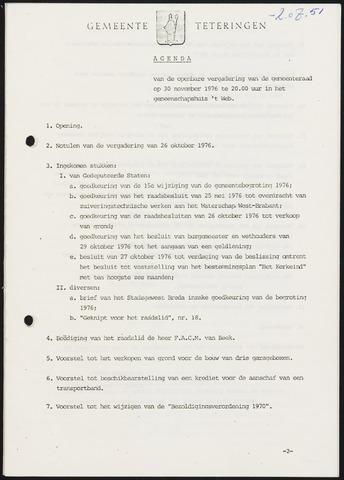 Teteringen - Notulen en bijlagen van de gemeenteraad 1976-11-30