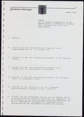 Teteringen - Notulen en bijlagen van de gemeenteraad 1996-12-19