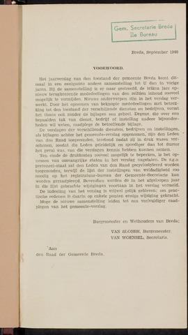 Breda - Verslagen van de toestand van de gemeente 1939