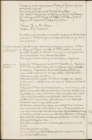 Ginneken en Bavel - Notulen van de gemeenteraad 1919-01-01