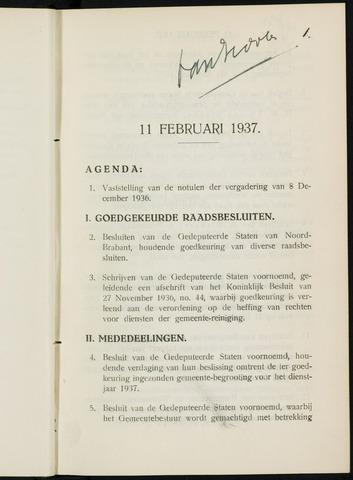 Breda - Notulen van de gemeenteraad 1937-01-01