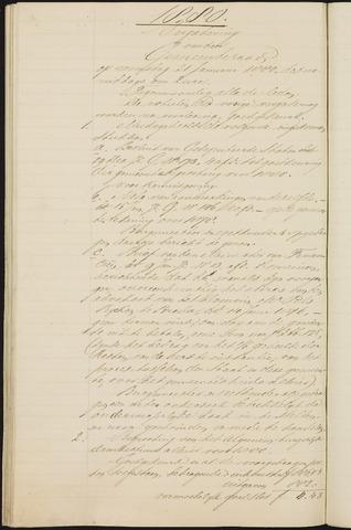 Teteringen - Notulen en bijlagen van de gemeenteraad 1880