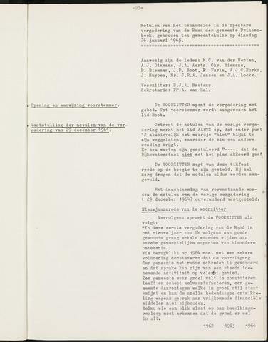 Prinsenbeek - Notulen van de gemeenteraad 1965-01-01
