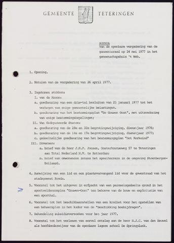 Teteringen - Notulen en bijlagen van de gemeenteraad 1977-05-24