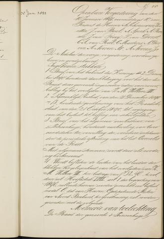 Princenhage - Notulen van de gemeenteraad 1891