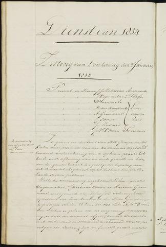 Ginneken en Bavel - Notulen van de gemeenteraad 1834-01-01