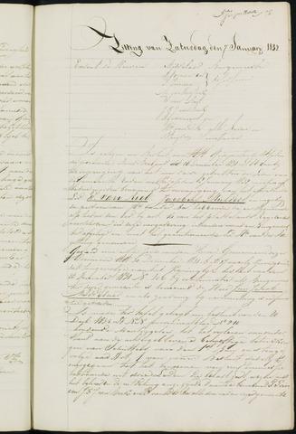 Ginneken en Bavel - Notulen van de gemeenteraad 1832-01-01