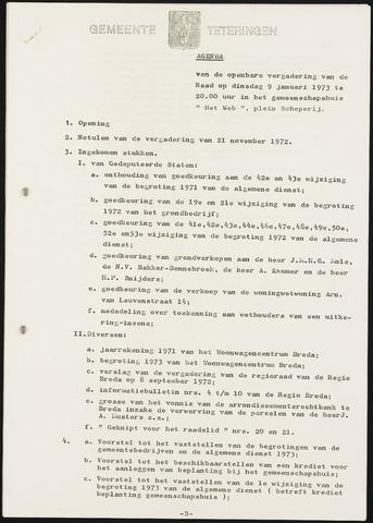 Teteringen - Notulen en bijlagen van de gemeenteraad 1973