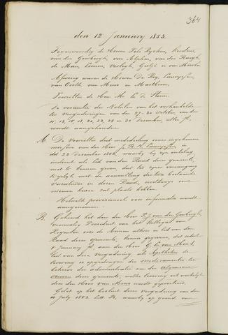 Breda - Notulen van de gemeenteraad 1853-01-01