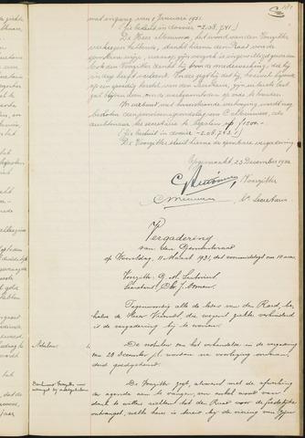 Teteringen - Notulen en bijlagen van de gemeenteraad 1931