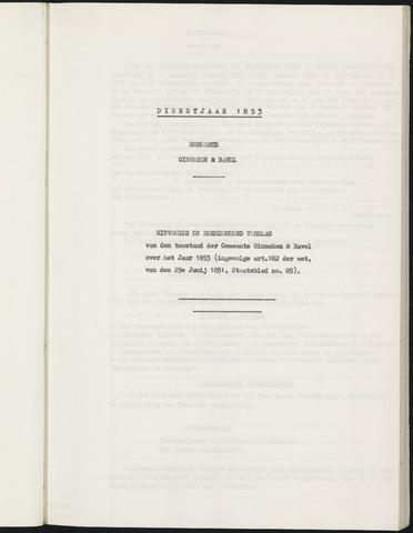 Ginneken en Bavel - Verslagen van de toestand van de gemeente 1853-01-01