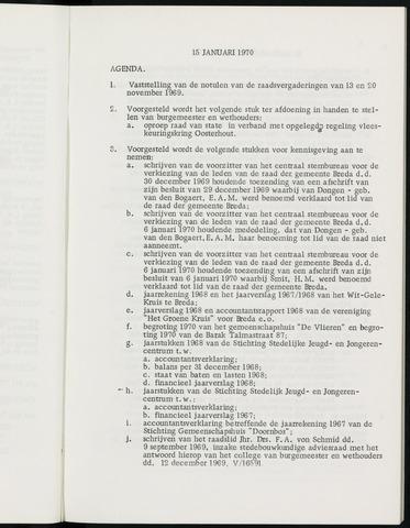Breda - Notulen van de gemeenteraad 1970-01-01