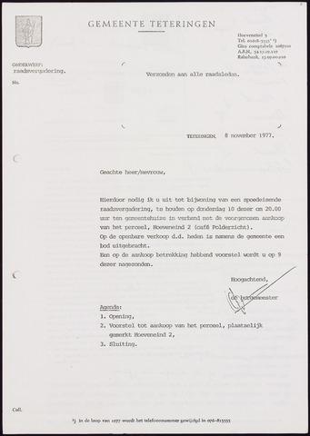 Teteringen - Notulen en bijlagen van de gemeenteraad 1977-11-10