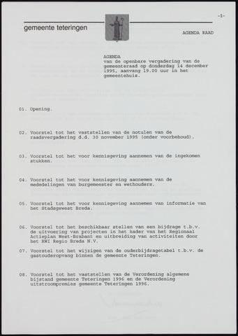 Teteringen - Notulen en bijlagen van de gemeenteraad 1995-12-14